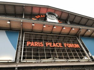 Entrance to the Paris Peace Forum